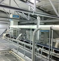 Filter system inc dustwork at SiO2 processing